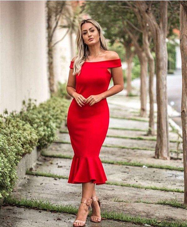 Vestido vermelho super verão