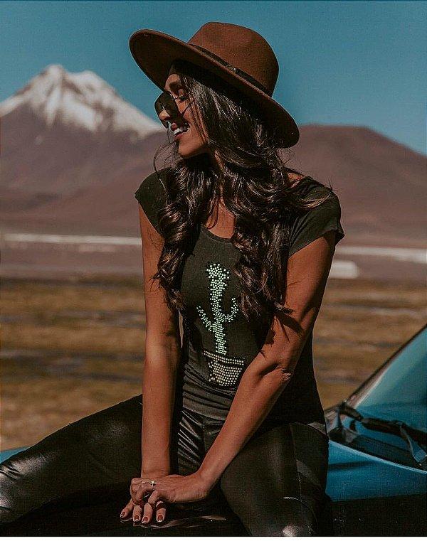 Tshirt super diva com cactus