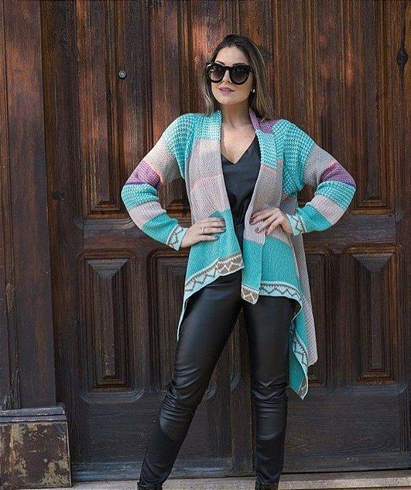 Kimono tricot candy colors