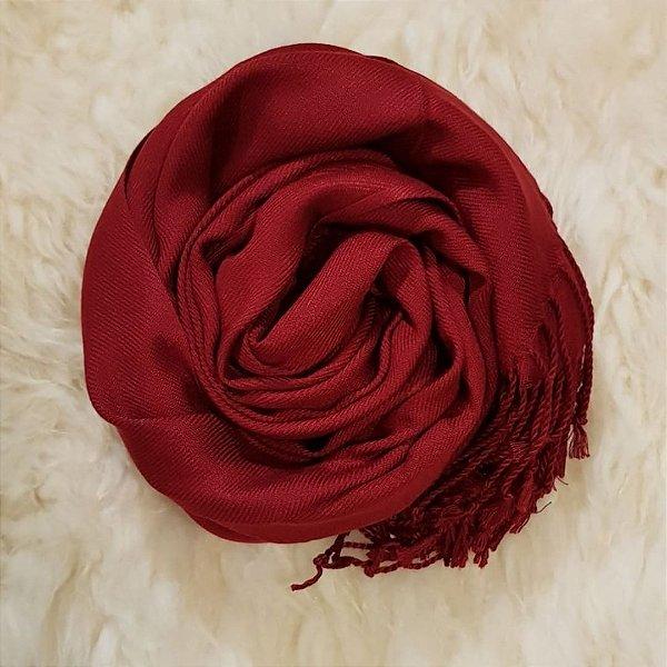 Pashmina - Vermelho escuro