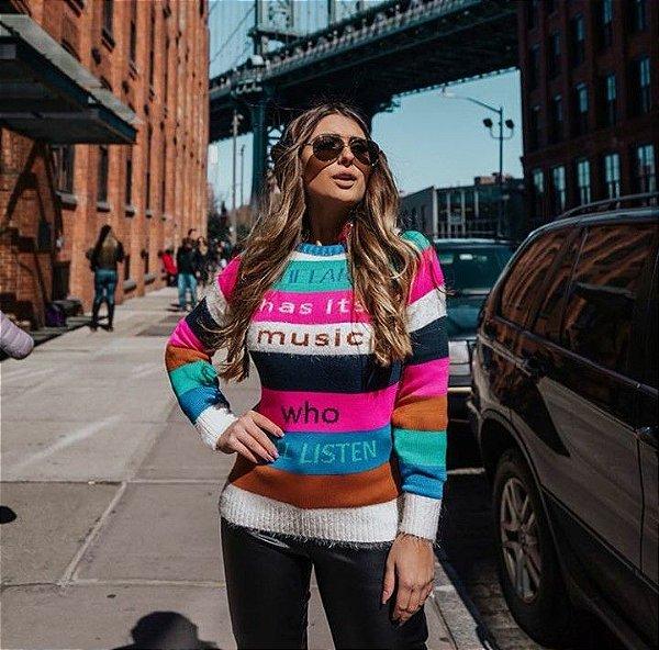 Suéter listras colors
