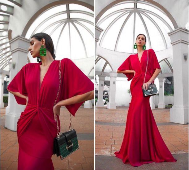 Vestido de festa Victoria - Vermelho