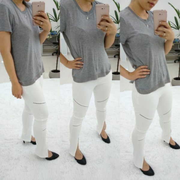 Calça skinny stylish - Off white
