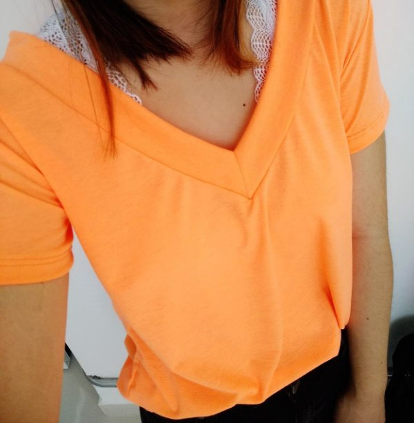 T-shirt podrinha - Laranja Neon