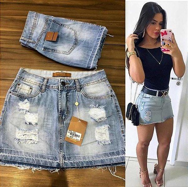 Mini saia jeans maravilhosa