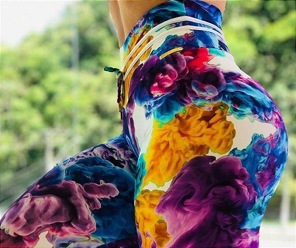 Calça legging fitness levanta bumbum color blend