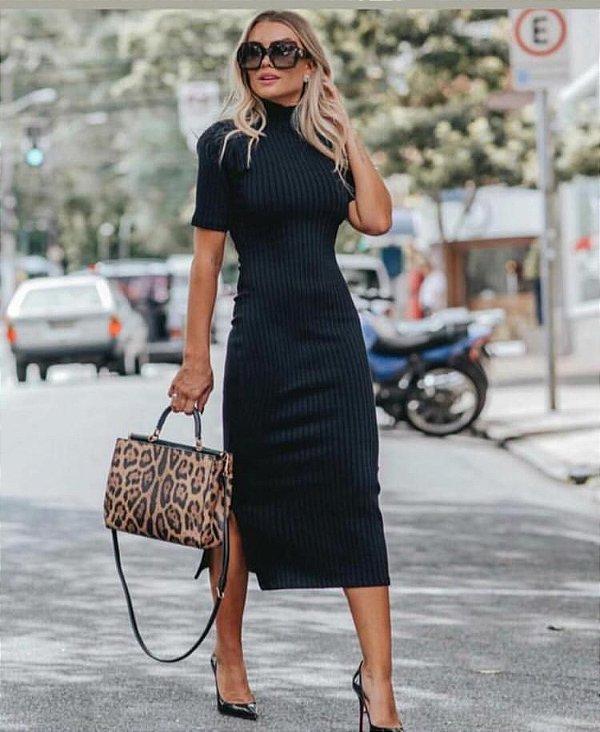 Resultado de imagem para vestido midi elegante de malha