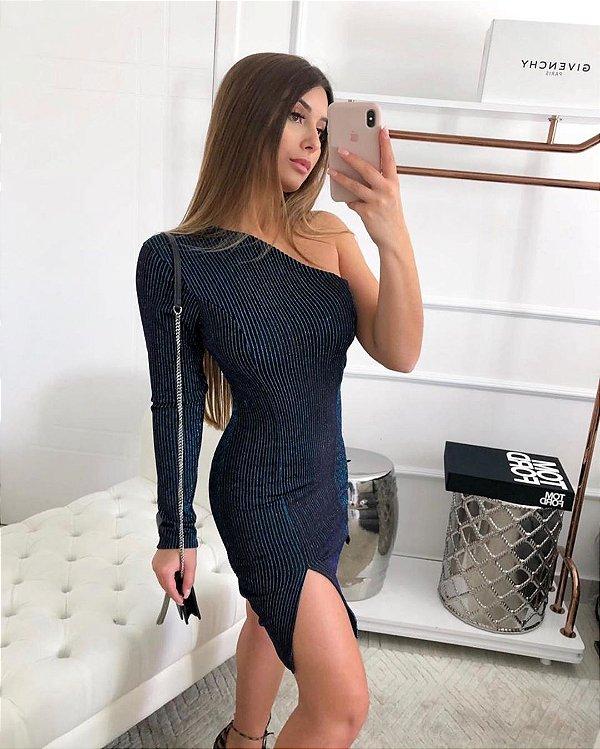 Vestido fenda Lurex - furtacor
