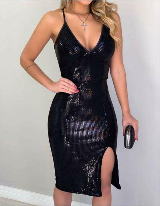 Vestido paetê - Fernanda