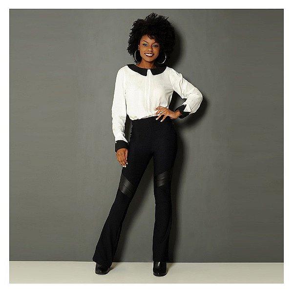 Blusa com golinha - Black and white