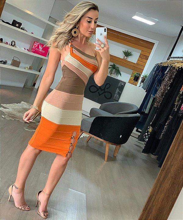 Vestido Tricot Samira - Laranja