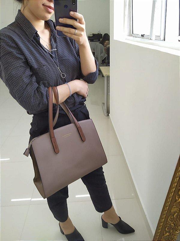 Bolsa estruturada Classic - Light brown