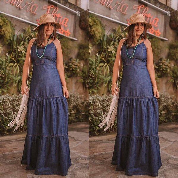 Vestido longo jeans - Simone
