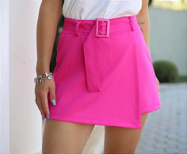Short saia alfaiataria - Pink