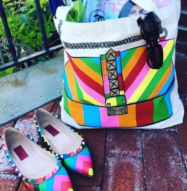 Ecobag estampada - Fashion rainbow
