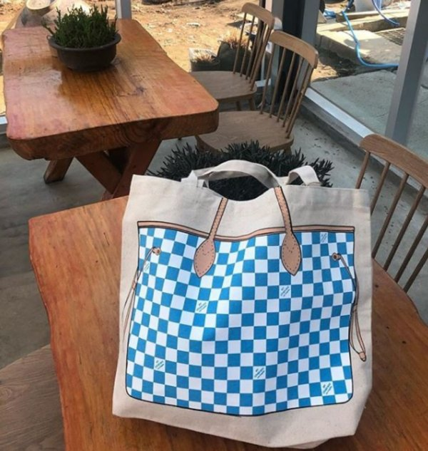 Ecobag estampada - Shopper azul