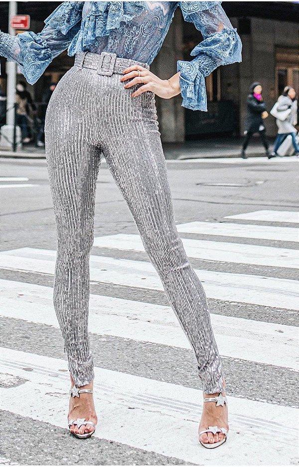 Skinny Paetês Glam