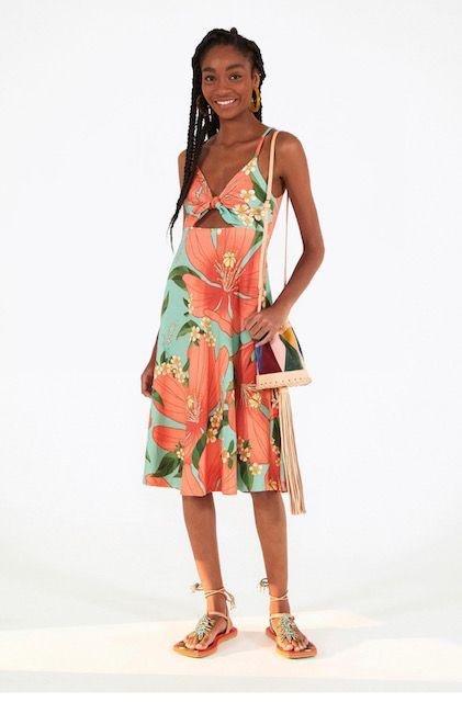 vestido gode floral ribana
