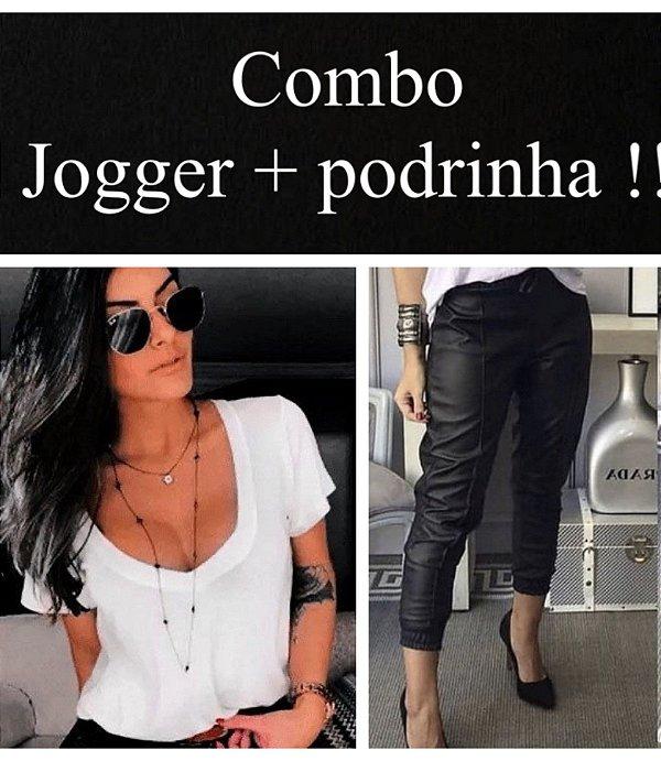 Combo : Jogger Couro + Podrinha
