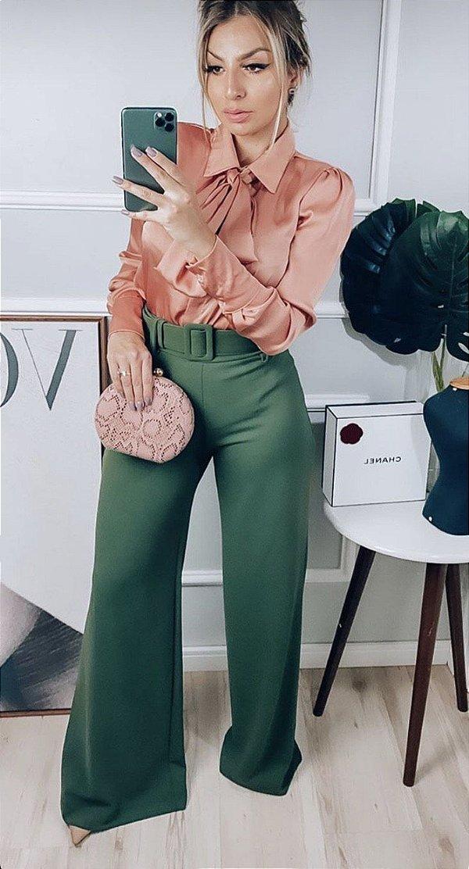Calça Crepe Rosi - Verde