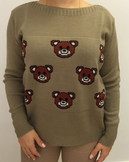 Tricot caqui urso Ted (Moschino inspired)