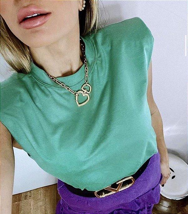 Muscle Tee - Verde - Madame Ninna , loja de calças flare ...