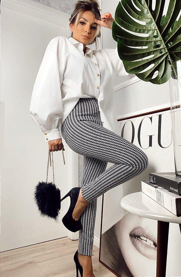Skinny pied poule modelagem perfeita