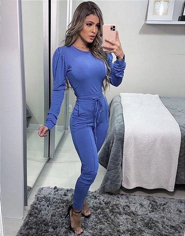 Conjunto Moletinho Melanie - Azul