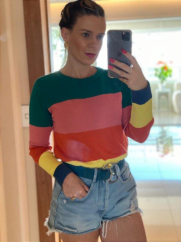Blusa em tricot 4 colors