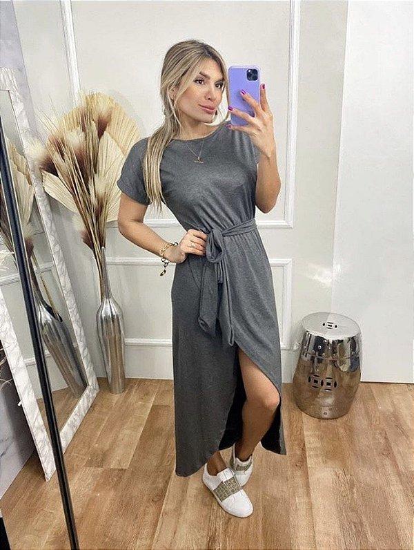 Vestido Viscolycra Mariah - Cinza
