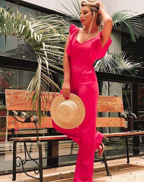 Macacão Linho Amanda - Pink