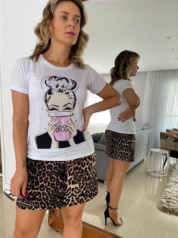 Tshirt estampa Girl boss
