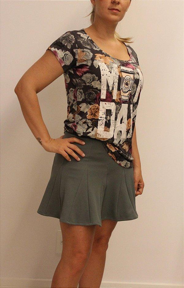 Tshirt com estampa florida MONDAY e material super premium