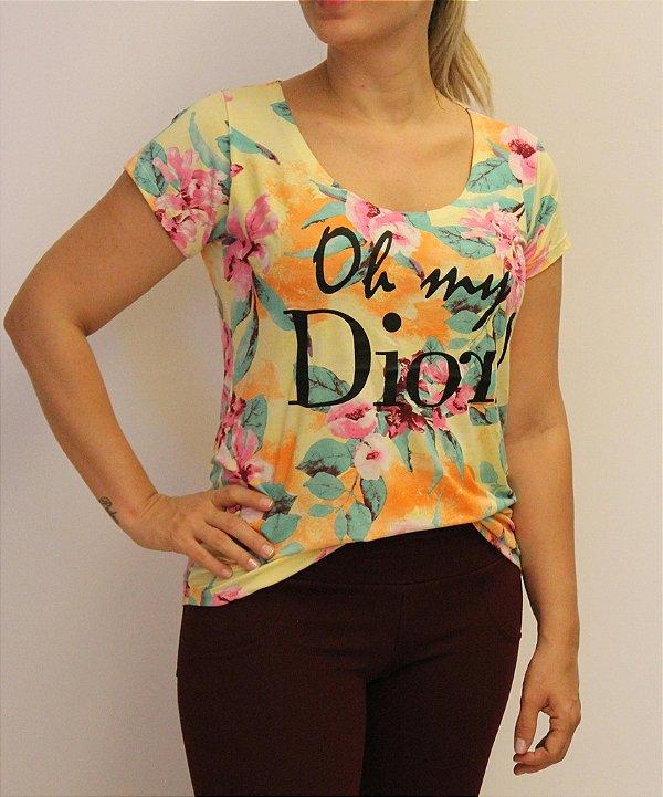 Tshirt com estampa DIOR e material super premium