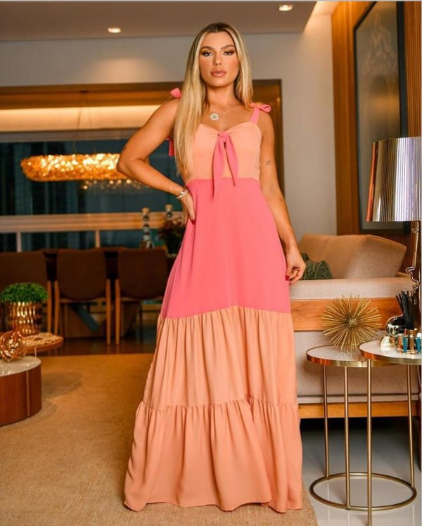 Vestido Bicolor Premium