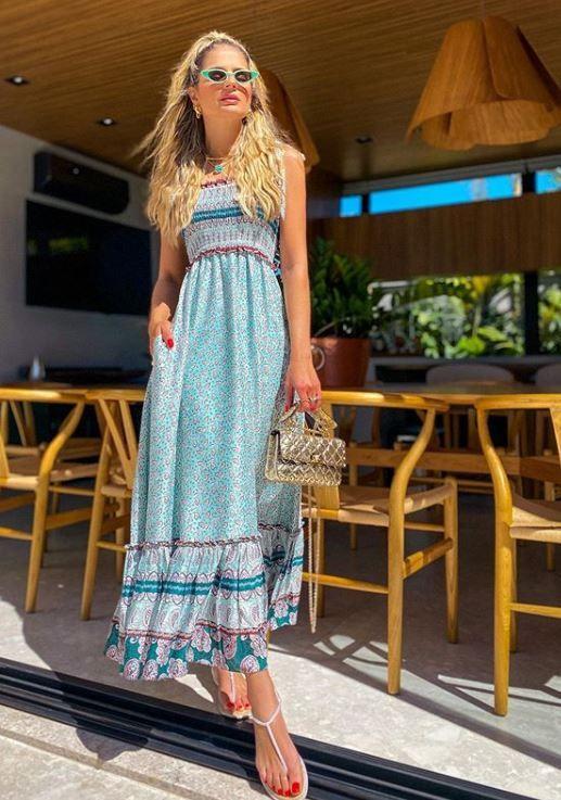 Vestido Mirela Blue