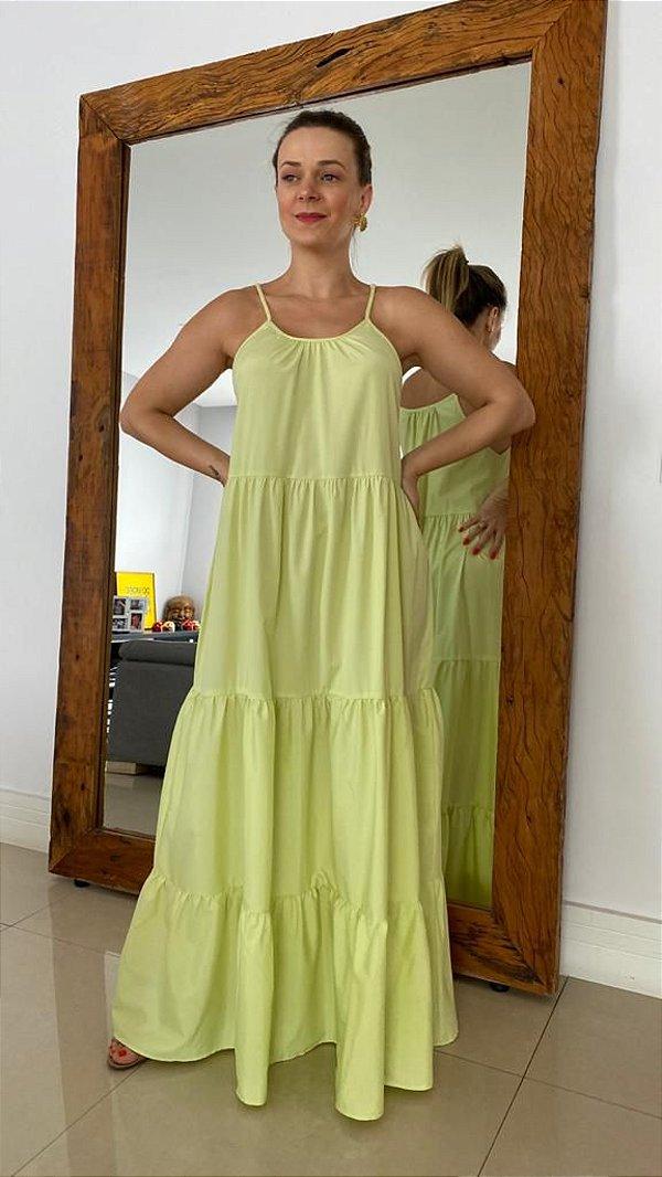 Vestido Longo Camadas - Lima