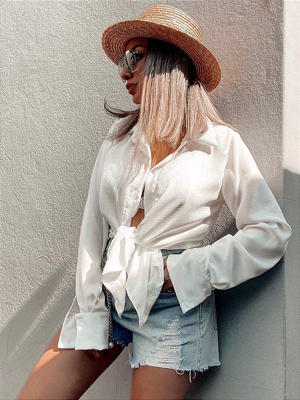 Camisa Alongada - Branca