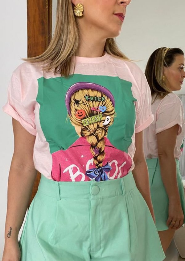 Tshirt Boo - Rosa Candy