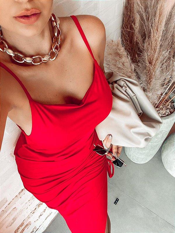 Vestido Carmen - Vermelho