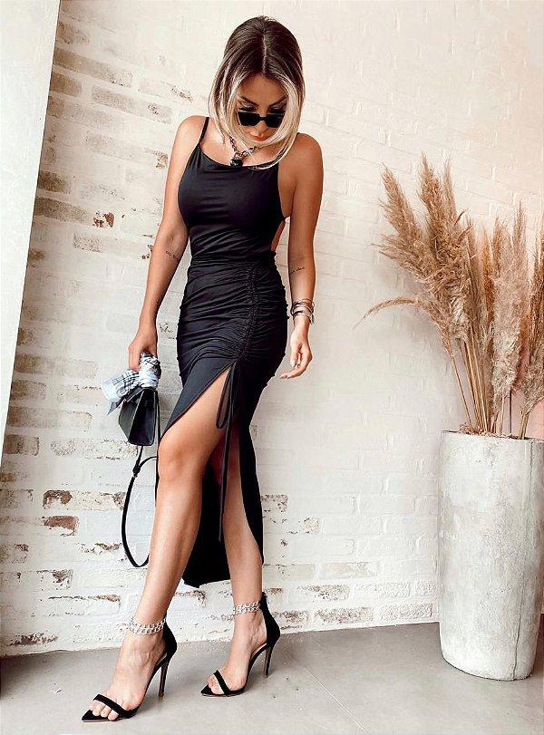 Vestido Carmen - Preto