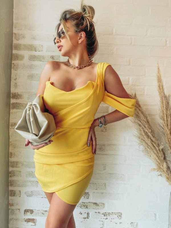 Vestido Paula - Amarelo
