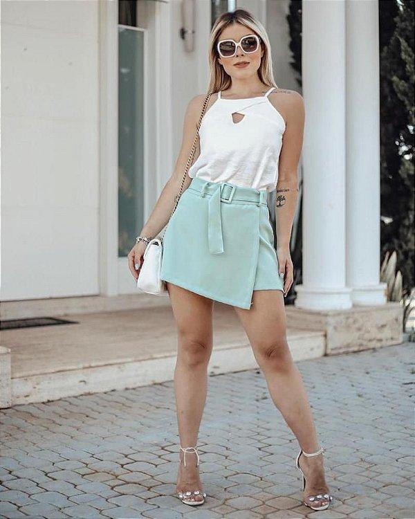 Short Saia Alfaiataria - Verde Menta