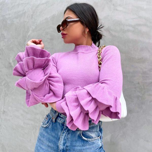 Blusa babadão em tricot modal