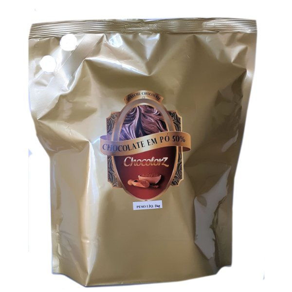Chocolate em Pó 50% embalagem 2kg