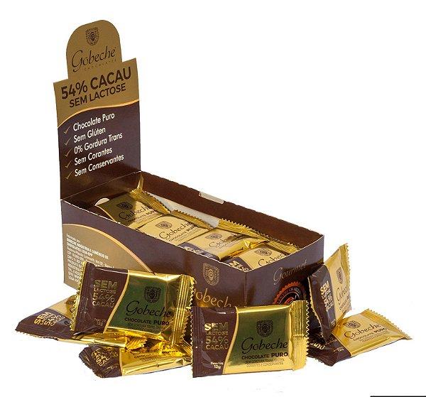 Chocolate Gourmet 54% Cacau Sem Lactose - Gobeche - Display com 44 unid. 12g
