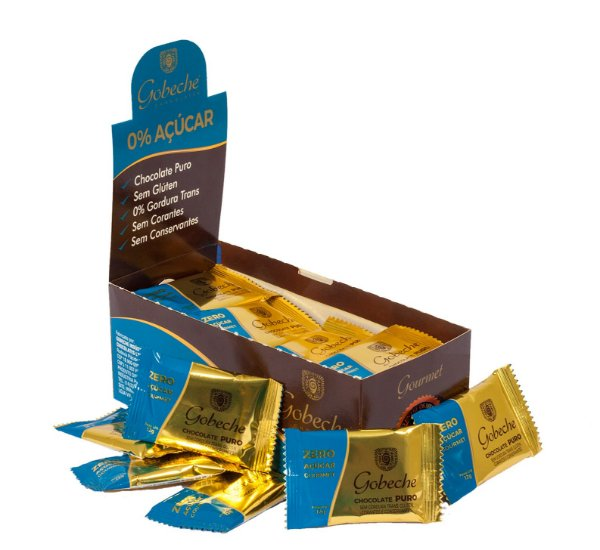 Chocolate Gourmet Zero Açúcar Gobeche - Display com 44 unid. 12g