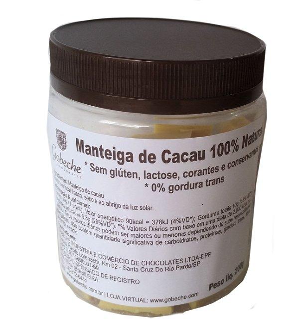 Manteiga de Cacau Natural Gobeche  - pote 200g