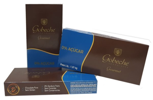 Chocolate Gourmet Zero Açúcar Gobeche - Barra 1,01kg