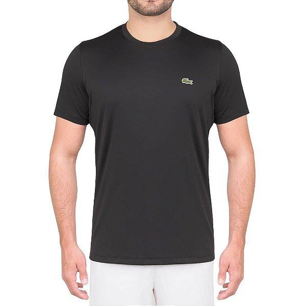 c9e2e69f596f6 Camiseta Lacoste Sport Tennis Preta - Hit Tennis Sports - Loja de ...